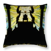 Come Boldly To The Throne Of Grace Throw Pillow