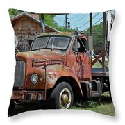 Come Hungry But Bring Your Own Chair Throw Pillow by DigiArt Diaries by Vicky B Fuller