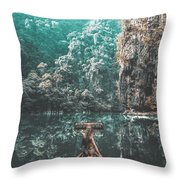 Come In My Paradise Throw Pillow