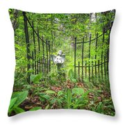 Come Into The Woods With Me Throw Pillow