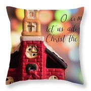 Come Let Us Adore Him Throw Pillow