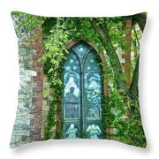 Come Meet God Throw Pillow