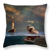 Come On My Friend Throw Pillow by Martine Roch