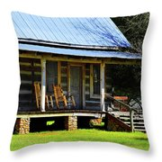 Come On Up - Sit A Spell Throw Pillow
