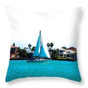 Come Sail Away Throw Pillow