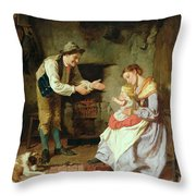 Come To Daddy Throw Pillow