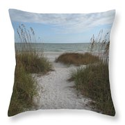 Come To The Beach Throw Pillow