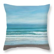 Come With Me To The Sea Throw Pillow