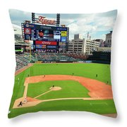 Comerica Park, Home Of The Detroit Tigers Throw Pillow