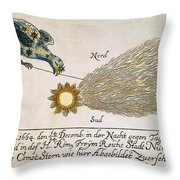 Comet, 1664 Throw Pillow