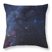Comet Lovejoy In The Winter Sky Throw Pillow