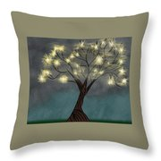 Comet Tree Throw Pillow