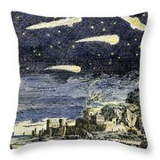 Comets Throw Pillow