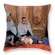 Comfort In Our Friendship  Throw Pillow