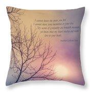 Comfort In Sorrow Throw Pillow