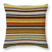 Comfortable Stripes Vl Throw Pillow by Michelle Calkins