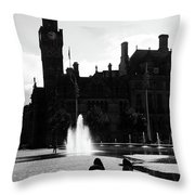 Comforted By The City Throw Pillow