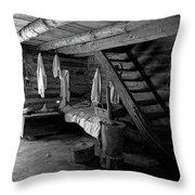 Comfy Corner - B-w Throw Pillow