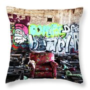 Comfy In The Rumble Throw Pillow