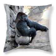 Comfy Rock Throw Pillow