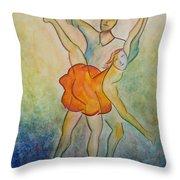 Comic Ballet Throw Pillow