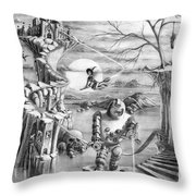 Comic Book Cover Throw Pillow