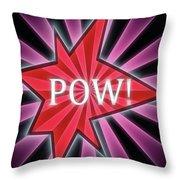 Comic Book Pow Throw Pillow
