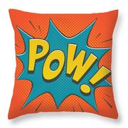 Comic Pow Throw Pillow