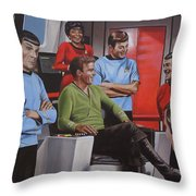 Comic Relief Throw Pillow by Kim Lockman