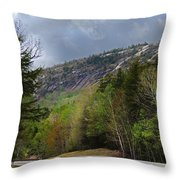 Comin Around The Bend In Campton New Hampshire Throw Pillow