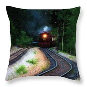 Comin Round The Bend Throw Pillow