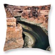 Coming Around Horseshoe Bend Page Arizona Colorado River  Throw Pillow