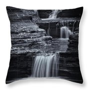 Coming Down Gently Throw Pillow by Evelina Kremsdorf