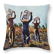 Coming From The Fields Throw Pillow