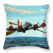 Coming Home - Boeing B-17 Flying Fortress V2 Throw Pillow