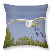 Coming In For A Drink Throw Pillow