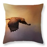 Coming In For The Evening Throw Pillow