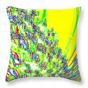 Coming Into Bloom Throw Pillow