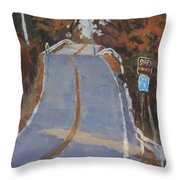 Coming Off Orr's Island - Art By Bill Tomsa Throw Pillow