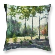 Coming Out Of The Woods Throw Pillow