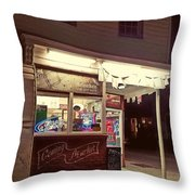 Coming Street Night Life Throw Pillow