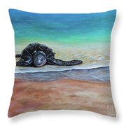Coming To Nest Throw Pillow
