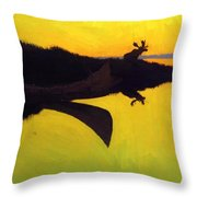 Coming To The Call 1905 Throw Pillow