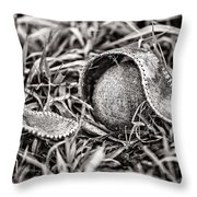 Coming Undone Throw Pillow by CJ Schmit