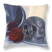 Coming  Up Roses Throw Pillow