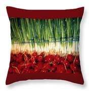 Comlimentary Vegetables Throw Pillow