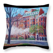 Comm Ave Magnolias Throw Pillow