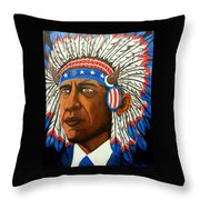 Commander And Chief Throw Pillow