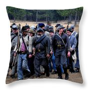 Commanding The Troops Throw Pillow