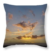 Commencement Bay Sunset Throw Pillow